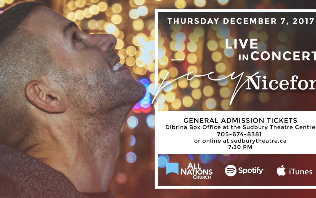 Joey Niceforo | Live in Concert in Sudbury